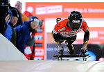 14 December 2007: Michi Halilovic, racing for Germany, starts his first run at the FIBT World Cup Skeleton Competition at the Olympic Sports Complex on Mount Van Hovenberg, at Lake Placid, New York, USA. ..Mandatory Photo Credit: Ed Wolfstein Photo