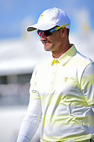Adam Scott (AUS) departs 14 during round 3 Foursomes of the 2017 President's Cup, Liberty National Golf Club, Jersey City, New Jersey, USA. 9/30/2017.<br /> Picture: Golffile | Ken Murray<br /> <br /> All photo usage must carry mandatory copyright credit (&copy; Golffile | Ken Murray)