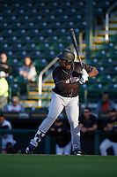Jupiter Hammerheads designated hitter Lazaro Alonso (44) during a Florida State League game against the Bradenton Marauders on April 19, 2019 at LECOM Park in Bradenton, Florida.  Bradenton defeated Jupiter 7-1.  (Mike Janes/Four Seam Images)