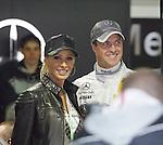 Motorsport: DTM Hockenheimring Baden-W&uuml;rttemberg/D  2008 1. Lauf <br /> Ralf und Cora Schumacher<br /> <br /> <br /> <br /> Foto &copy; nph (nordphoto)