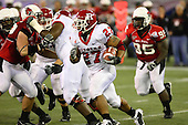 January 5th, 2008:  Rutgers Ray Rice (27) looks to find a hole on a rush during the second quarter of the International Bowl at the Rogers Centre in Toronto, Ontario Canada...Rutgers defeated Ball State 52-30.  ..Photo By:  Mike Janes Photography