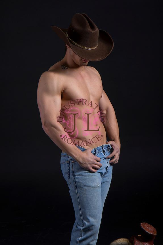 Western cowboy themed Romance Novel cover stock photographs by Jenn LeBlanc for Illustrated Romance