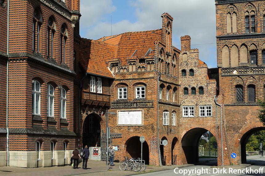Burgtor in Lübeck, Schleswig-Holstein, Deutschland,  Unesco-Weltkulturerbe