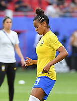 20190618 - VALENCIENNES , FRANCE : Brazilian Tayla pictured during the female soccer game between Italy  and Brazil  , the third game for both teams in group C during the FIFA Women's  World Championship in France 2019, Tuesday 18 th June 2019 at the Stade du Hainaut Stadium in Valenciennes , France .  PHOTO SPORTPIX.BE | DIRK VUYLSTEKE