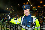 Sgt John O'Mahony who is retiring on duty at the Kerry v Dublin, Allianz National League at Austin Stack Park, Tralee on Saturday night last.
