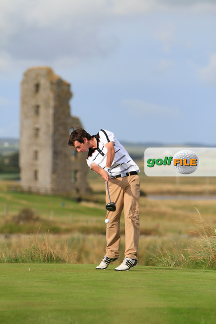 William Russell (Clandeboye) on the 13th tee during the South of Ireland Amateur Open Championship Second Round at Lahinch Golf Club  28th July 2013 <br /> Picture:  Thos Caffrey / www.golffile.ie