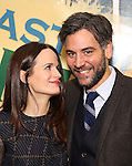 Elizabeth Reaser and Josh Radnor attends the press reception for the Opening Night of the Lincoln Center Theater Production of 'The Babylon Line'  at the Mitzi E. Newhouse Theatre on December 5, 2016 in New York City.