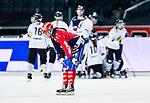 Solna 2014-03-15 Bandy SM-final Damer Kareby IS - AIK  :  <br /> Karebys Camilla Johansson deppar efter att AIK:s Mikaela Hasselgren gjort 4-1<br /> (Foto: Kenta J&ouml;nsson) Nyckelord:  SM SM-final final dam damer Kareby AIK depp besviken besvikelse sorg ledsen deppig nedst&auml;md uppgiven sad disappointment disappointed dejected