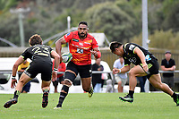 Isileli NAKAJIMA (中島 イシレリ) in action during the Hurricanes Hinters v Wolfpack at Jerry Collins Stadium, Porirua, New Zealand on Friday 29 March 2019. <br /> Photo by Masanori Udagawa. <br /> www.photowellington.photoshelter.com