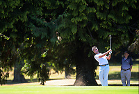 Charlie Smail plays an approach shot to the 18th. Final day of the Jennian Homes Charles Tour / Brian Green Property Group New Zealand Super 6s at Manawatu Golf Club in Palmerston North, New Zealand on Sunday, 8 March 2020. Photo: Dave Lintott / lintottphoto.co.nz