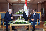 Palestinian president Mahmoud Abbas meets with Egyptian President Abdel Fattah al-Sisi in Sharm El-Sheikh, Egypt, on February 24, 2019. Photo by Thaer Ganaim