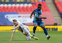 Wycombe Wanderers' Fred Onyedinma competing with Oxford United's Sam Long (left)  <br /> <br /> Photographer Andrew Kearns/CameraSport<br /> <br /> Sky Bet League One Play Off Final - Oxford United v Wycombe Wanderers - Monday July 13th 2020 - Wembley Stadium - London<br /> <br /> World Copyright © 2020 CameraSport. All rights reserved. 43 Linden Ave. Countesthorpe. Leicester. England. LE8 5PG - Tel: +44 (0) 116 277 4147 - admin@camerasport.com - www.camerasport.com