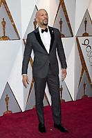 Common arrives on the red carpet of The 90th Oscars&reg; at the Dolby&reg; Theatre in Hollywood, CA on Sunday, March 4, 2018.<br /> *Editorial Use Only*<br /> CAP/PLF/AMPAS<br /> Supplied by Capital Pictures