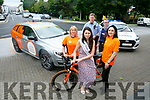 The Kerry Rose, 2017, Breda O'Mahony launches  the Cycle Against Suicide Spinoff, departing from Austin Stacks GAA Club, at 2.30pm on Saturday, August 19 Pictured here with  Clodagh Moynihan and Mags O'Halloran, Garda Enda McInerney and Garda Stephan Kelly on Monday