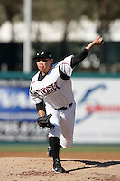 Juan Oramas of the Lake Elsinore Storm during game against the Bakersfield Blaze at The Diamond in Lake Elsinore,California on July 25, 2010. Photo by Larry Goren/Four Seam Images