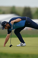 Tyrrell Hatton (ENG) on the 16th green during the final round at the PGA Championship 2019, Beth Page Black, New York, USA. 20/05/2019.<br /> Picture Fran Caffrey / Golffile.ie<br /> <br /> All photo usage must carry mandatory copyright credit (© Golffile | Fran Caffrey)