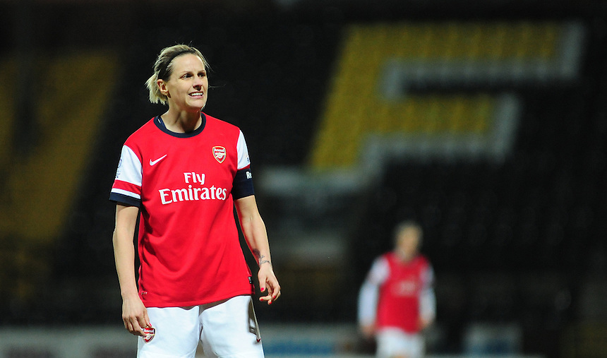 Arsenal Ladies' Kelly Smith <br /> <br /> Photo by Chris Vaughan/CameraSport<br /> <br /> Women's Football - FA Women&rsquo;s Super League 1 - Notts County Ladies v Arsenal Ladies - Wednesday 16th April 2014 - Meadow Lane - Nottingham<br /> <br /> &copy; CameraSport - 43 Linden Ave. Countesthorpe. Leicester. England. LE8 5PG - Tel: +44 (0) 116 277 4147 - admin@camerasport.com - www.camerasport.com