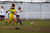 Coral-Jade Haines of Tottenham Ladies scores the opening Spurs goal during Tottenham Hotspur Ladies vs Oxford United Women, FA Women's Super League FA WSL2 Football at Theobalds Lane on 11th February 2018