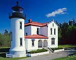 Whidbey Island, WA<br /> Admiralty Head Lighthouse (1860) at Fort Casey State Park