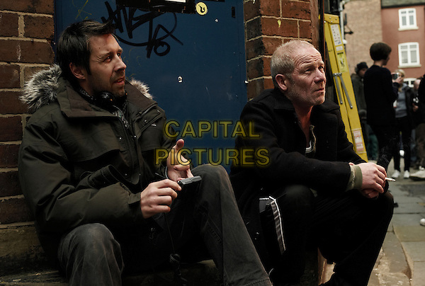 Paddy Considine the director & Peter Mullan .on the set of Tyrannosaur.*Filmstill - Editorial Use Only*.CAP/PLF.Supplied by Capital Pictures.