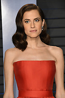 04 March 2018 - Los Angeles, California - Allison Williams. 2018 Vanity Fair Oscar Party hosted following the 90th Academy Awards held at the Wallis Annenberg Center for the Performing Arts. <br /> CAP/ADM/BT<br /> &copy;BT/ADM/Capital Pictures
