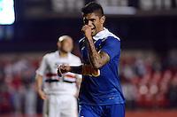 SAO PAULO SP, 20 Julho 2013 - Sao Paulo  X Cruzeiro -  Luan comemora terceiro gol durante partida contra o Cruzeiro valida pelo campeonato brasileiro de 2013  no Estadio do Morumbi em  Sao Paulo, neste sabado, 20. (FOTO: ALAN MORICI / BRAZIL PHOTO PRESS).