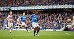 06.10.2019 Rangers v Hamilton: Jermain Defoe dinks in the opening goal for Rangers