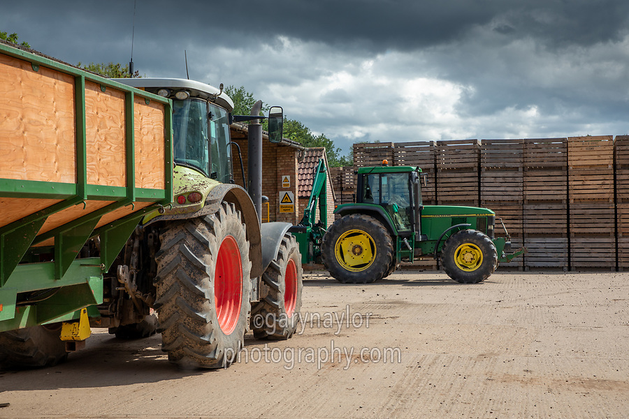 Farm Yard with tractors and trailer - Lincolnshire, July