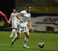 Pictured: Joe Allen of Swansea City in action <br />
