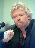 Richard Branson, CEO - Virgin Atlantic Air makes a point during his testimony on the United States - British aviation negotiations before the U.S. Senate Commerce, Science and Transportation Subcommittee in Washington, D.C. on June 4, 1997.<br /> Credit: Ron Sachs / CNP