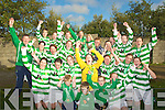 FAI CHAMPIONS: Listowel Celtic's squad celebrate after beating Defence Forces Ireland in the FAI Junior Cup Final on Sunday.
