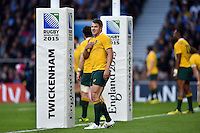 Drew Mitchell of Australia looks on. Rugby World Cup Semi Final between Argentina v Australia on October 25, 2015 at Twickenham Stadium in London, England. Photo by: Patrick Khachfe / Onside Images