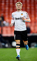 27th November 2019; Mestalla, Valencia, Spain; UEFA Champions League Footballl,Valencia versus Chelsea; Daniel Wass of Valencia CF warms up prior to the game - Editorial Use