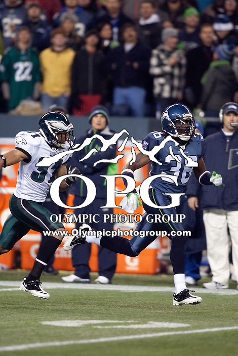 Dec 1, 2011: Seattle Seahawk Ron Parker against Philadelphia.  Seattle defeated Philadelphia 31-14 at Century Link Field in Seattle, Washington.