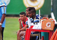 SÃO PAULO,SP, 18.08.2015 - FUTEBOL-PALMEIRAS - Daniel, Lucas Taylor e Kelvin do Palmeiras durante treinamento do Palmeiras na Academia de Futebol na Barra Funda zona oeste, nesta terça-feira 18.  (Foto: Bruno Ulivieri/Brazil Photo Press)