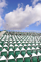A general view of the East Stand at the Recreation Ground prior to the match. Aviva Premiership match, between Bath Rugby and Northampton Saints on February 21, 2015 at the Recreation Ground in Bath, England. Photo by: Patrick Khachfe / Onside Images