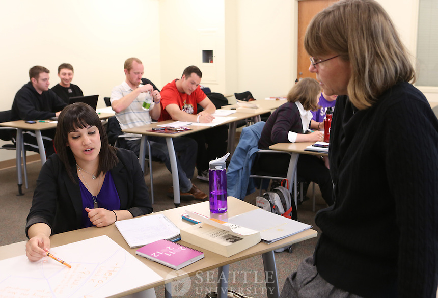 04192012- Professor Maylon Hanold's evening Sports Administration graduate level class.