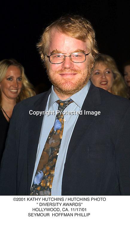 "©2001 KATHY HUTCHINS / HUTCHINS PHOTO."" DIVERSITY AWARDS"".HOLLYWOOD, CA. 11/17/01.SEYMOUR  HOFFMAN PHILLIP"