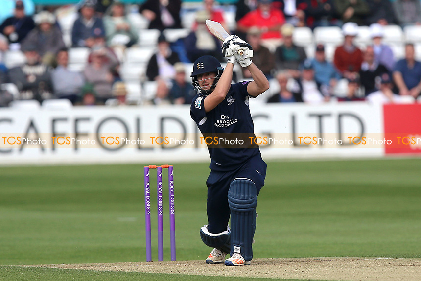 Toby Roland-Jones in batting action for Middlesex during Essex Eagles vs Middlesex, Royal London One-Day Cup Cricket at The Cloudfm County Ground on 12th May 2017