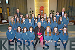 Joe Mc Mahon's 6th class who were confirmed on Friday in St Brendan's Church, Tralee by the Bishop of Kerry Bill Murphy, with the pupil was Fr Padraig Walsh PP,St Brendan's Church, Tralee.