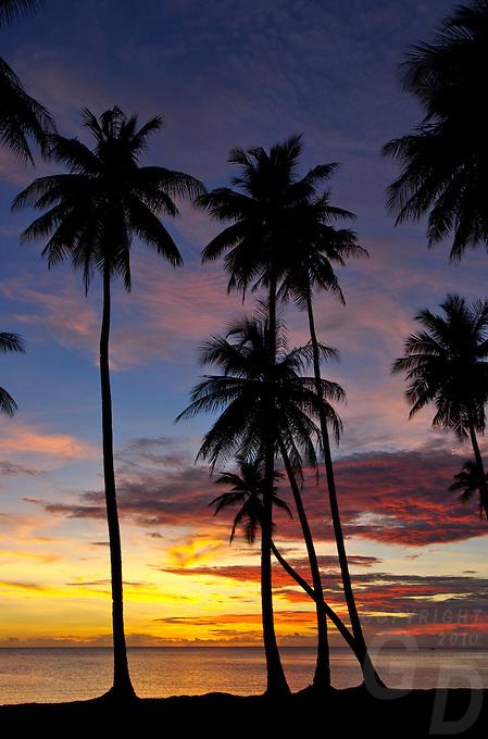 Sunset over Truk lagoon, Chuuk Micronesia