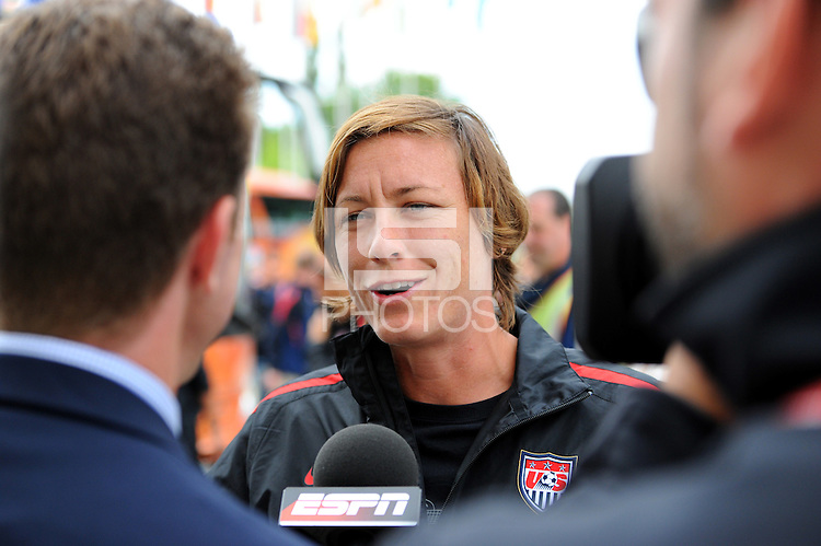 Abby Wambach, player of the USA national team, arrives during the FIFA Women's World Cup 2011 in Germany the Maritim Hotel in Dresden, Germany on June 23th, 2011.