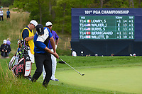 Brooks Koepka (USA) chips on to the green on 5 during round 4 of the 2019 PGA Championship, Bethpage Black Golf Course, New York, New York,  USA. 5/19/2019.<br /> Picture: Golffile | Ken Murray<br /> <br /> <br /> All photo usage must carry mandatory copyright credit (© Golffile | Ken Murray)