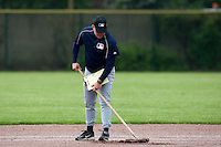 29 April 2009: MLB representative is seen working on the field during the first of six 2009 MLB European Academy Try-out Sessions throughout Europe, at Stade Pierre Rolland, in Rouen, France. Try-out sessions are run by members of the Major League Baseball Scouting Bureau with assistance from MLBI staff.