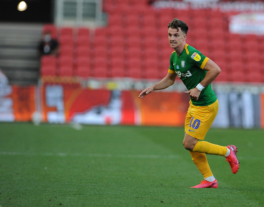 Preston North End's Josh Harrop during the game<br /> <br /> Photographer Ian Cook/CameraSport<br /> <br /> The EFL Sky Bet Championship - Bristol City v Preston North End - Wednesday July 22nd 2020 - Ashton Gate Stadium - Bristol <br /> <br /> World Copyright © 2020 CameraSport. All rights reserved. 43 Linden Ave. Countesthorpe. Leicester. England. LE8 5PG - Tel: +44 (0) 116 277 4147 - admin@camerasport.com - www.camerasport.com