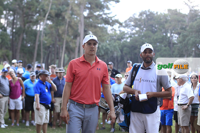 Jordan Spieth (USA) during round 2 of the Players, TPC Sawgrass, Championship Way, Ponte Vedra Beach, FL 32082, USA. 13/05/2016.<br /> Picture: Golffile | Fran Caffrey<br /> <br /> <br /> All photo usage must carry mandatory copyright credit (&copy; Golffile | Fran Caffrey)