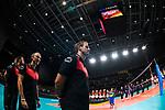 16.08.2019, …VB Arena, Bremen<br />Volleyball, LŠnderspiel / Laenderspiel, Deutschland vs. Polen<br /><br />Felix Koslowski (Trainer / Bundestrainer GER) vor Spiel<br /><br />  Foto © nordphoto / Kurth