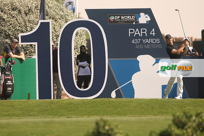 Tommy FLEETWOOD (ENG) during round 2 of the season ending DP World, Tour Championship, Dubai, UAE.<br /> Picture: Denise Cleary www.golffile.ie