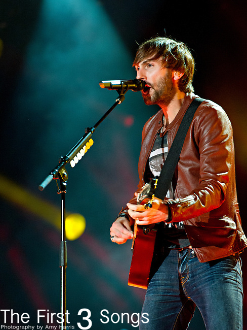 Dave Haywood of Lady Antebellum performs at LP Field during Day 2 of the 2013 CMA Music Festival in Nashville, Tennessee.
