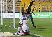 BOGOTA -COLOMBIA, 22-05-2017.Roque Caballero player of Rionegro Aguilas celebrates hid goal agasnt of La Equidad .Action game between  La Equidad and Rionegro Aguilas during match for the date 19 of the Aguila League I 2017 played at Metroplitano of Techo stadium . Photo:VizzorImage / Felipe Caicedo  / Staff
